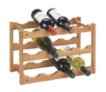 WENKO 18615100 Weinregal Norway - für 12 Flaschen, Walnussholz, 42 x 28 x 21 cm, Walnuss -