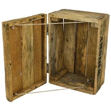 Whisky Holzkiste, junior (24x34,5x19cm), Vintage, Weinkiste, Obstkiste mit Deckel und Aufdruck -