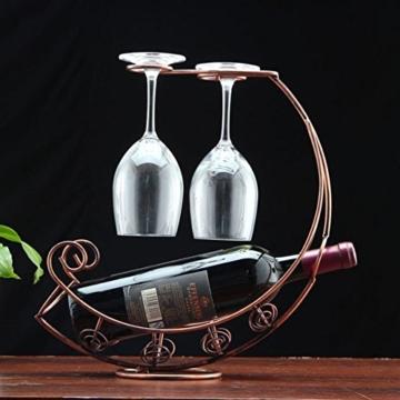 WINOMO Kreative Mond förmigen Tasse Inhaber Weinregal Brille hängen Weinregale (Antik Messing) -