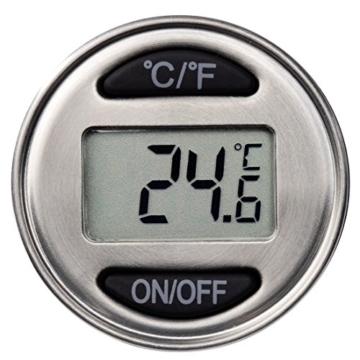 Xavax Weinthermometer Digital aus Edelstahl (auch geeignet als Bratenthermometer und Flaschenverschluss) Küchenthermometer Silber -