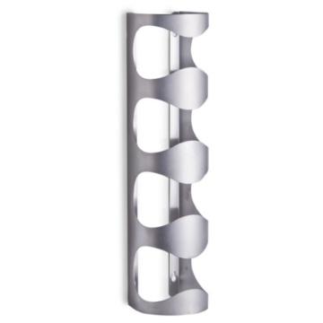Zeller 27365 Wand-Flaschenhalter, 11.5 x 9.8 x 45 cm, edelstahl -